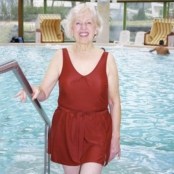 Modischer Inkontinenz-Badeanzug für Damen