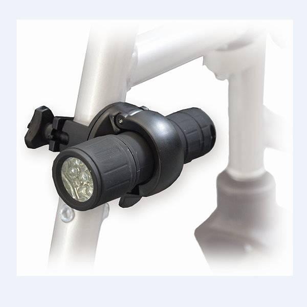 Rollstuhl/Rollator-Beleuchtung für Front und Heck