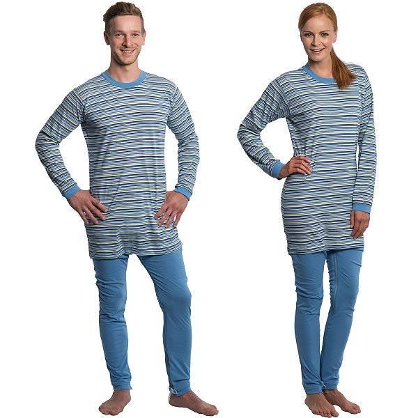 Pyjama-Pflegeoverall aus Baumwolle