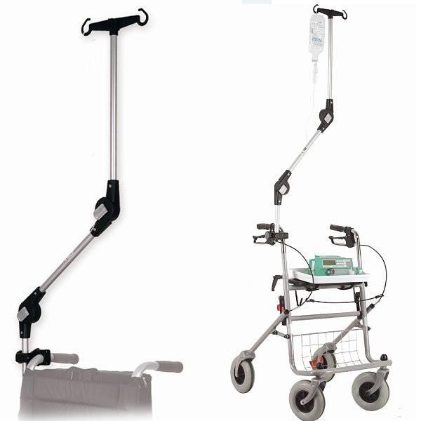 Infusionshalter für den Rollstuhl