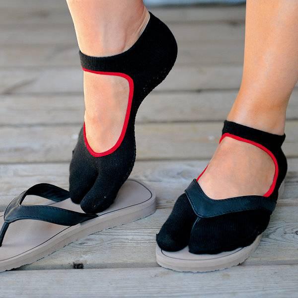 Pilates-Socke mit nur einer Zehe