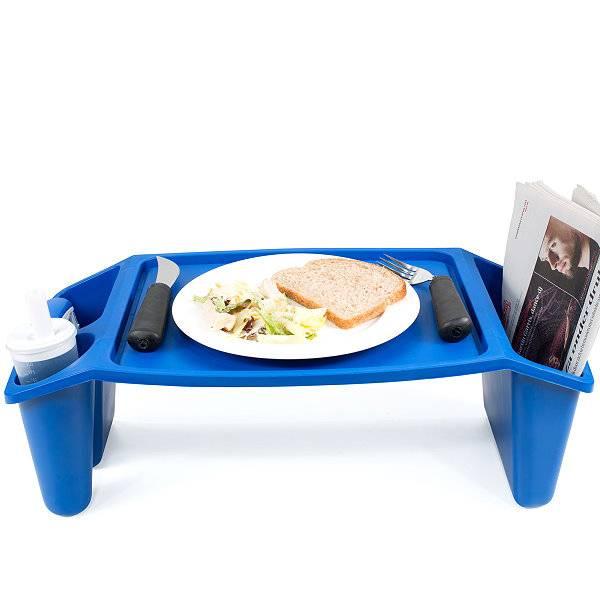 Praktischer Bett-Tisch zum Ablegen von Teller oder Zeitung