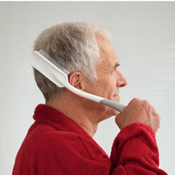 Körperpflege-Bürsten Reach mit mit langem, gebogenem Griff für Kopf und Rücken