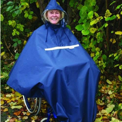 Rollstuhl Regen-Poncho zum überwerfen