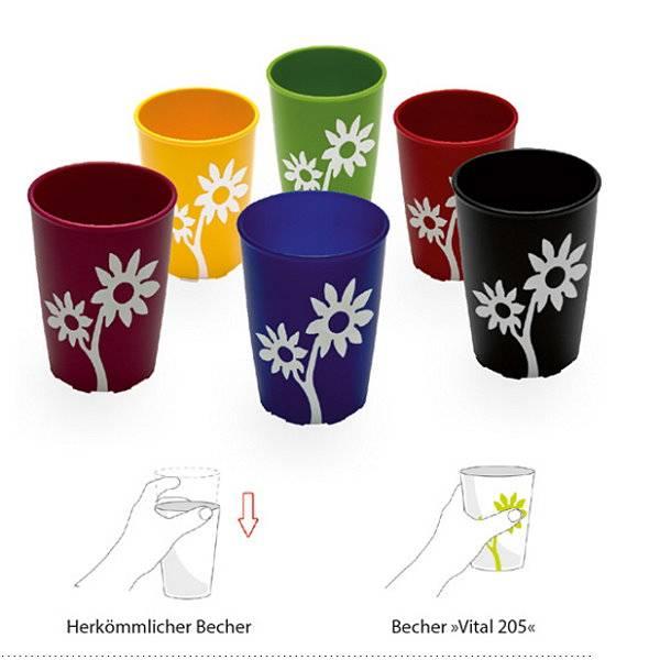 Innovativer Trinkbecher im schicken Blumen-Design