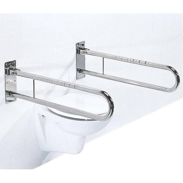 Toiletten-Schwenkstützgriff mit Fallsicherung