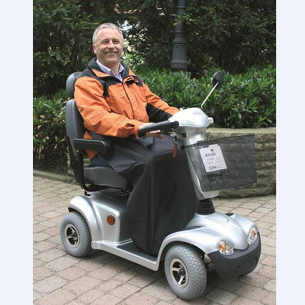 Regenbeinschutzdecke für Rollstuhl- und Scooterfahrer