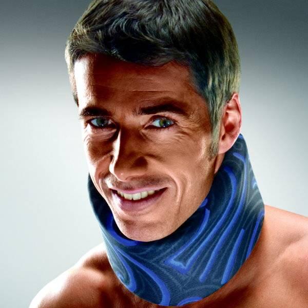 Anatomische Nackenstütze für Tag und Nacht