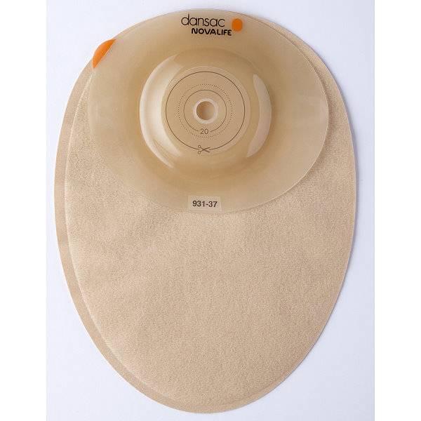 Geschlossener Stomabeutel NovaLife 1 Convex mit gewölbter Hautschutzplatte