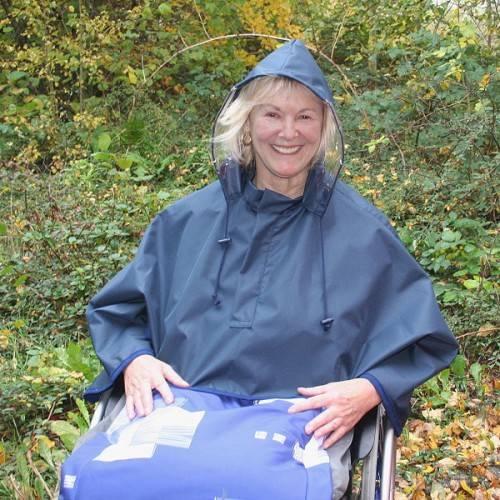 Regenbolero für Rollstuhlfahrer