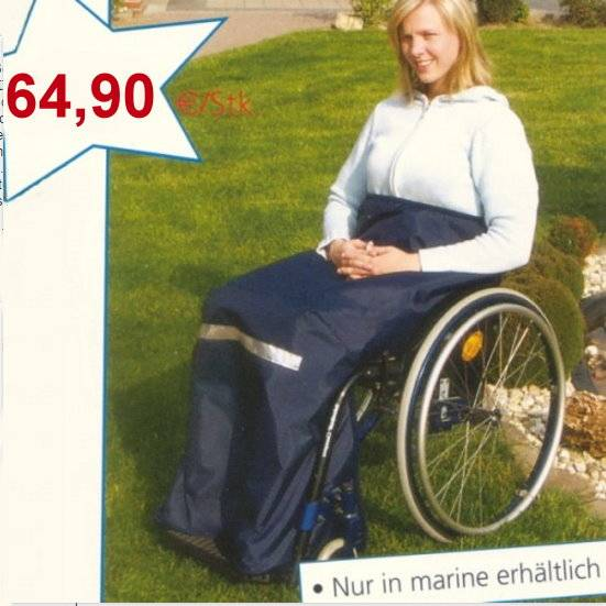 Beinschutzdecke für Rollstuhlfahrer