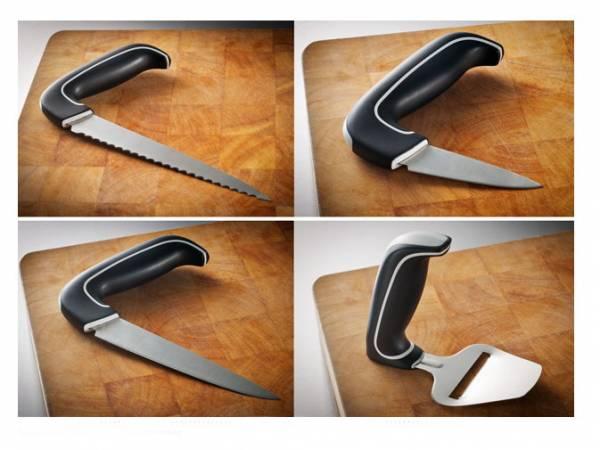 Swereco Zubereitungsmesser mit abgewinkeltem Handgriff