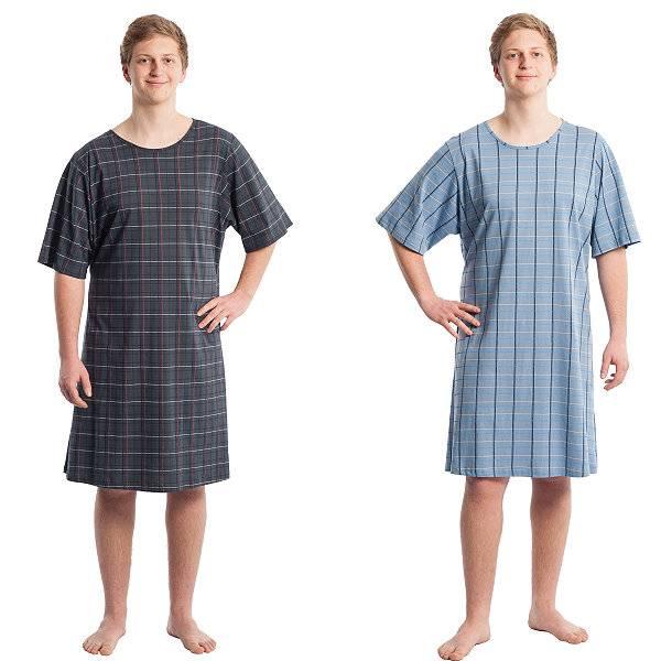 Pflegehemd für Herren aus Baumwolle