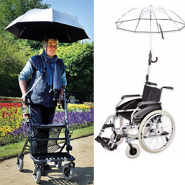 Rollstuhl-Regenschirm für Rollstühle