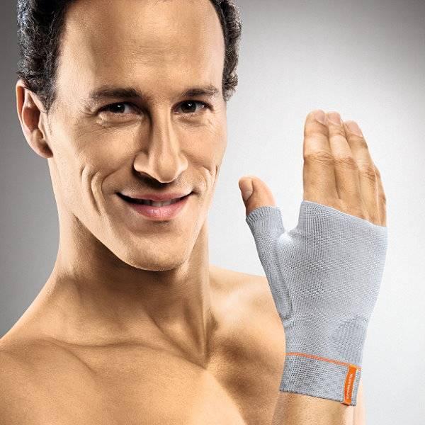 Flexible Handgelenkbandage mit Daumenstabilisierung