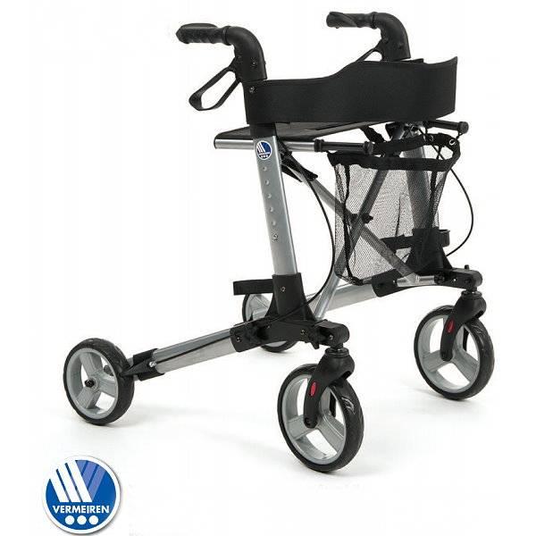 Leichtgewichtsrollator Quadri Light mit einklappbaren Rädern
