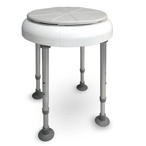 Duschhocker Delphi Turn mit drehbarer Sitzfläche