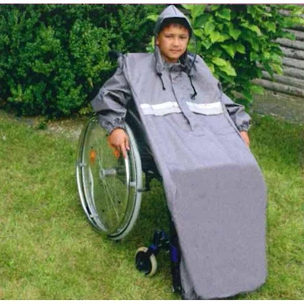 Rollstuhl-Regencape für Kinder mit Ärmeln