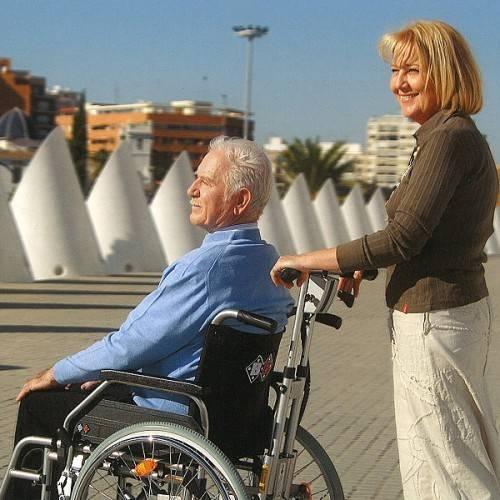 Schiebehilfe für Standard-Rollstuhl Togo (Bischoff)