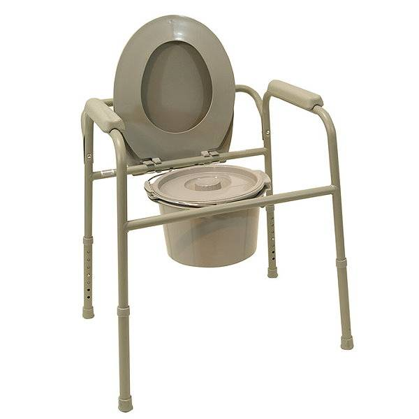 Toilettenstützgestell TSG 130 - optional mit Toiletteneimer