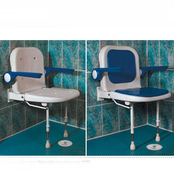 XXL-Duschklappsitz zur Wandbefestigung - bis 254 kg!