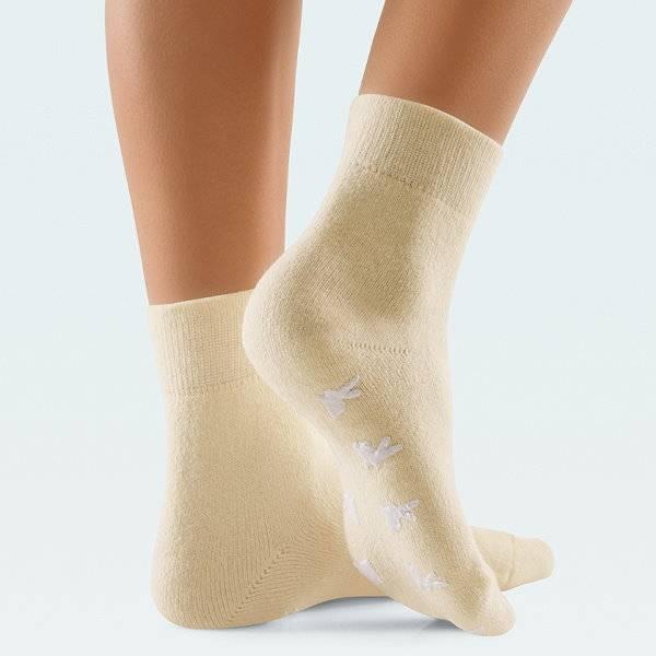 Gegen kalte Füße: Fußwärmer-Socken mit Angora