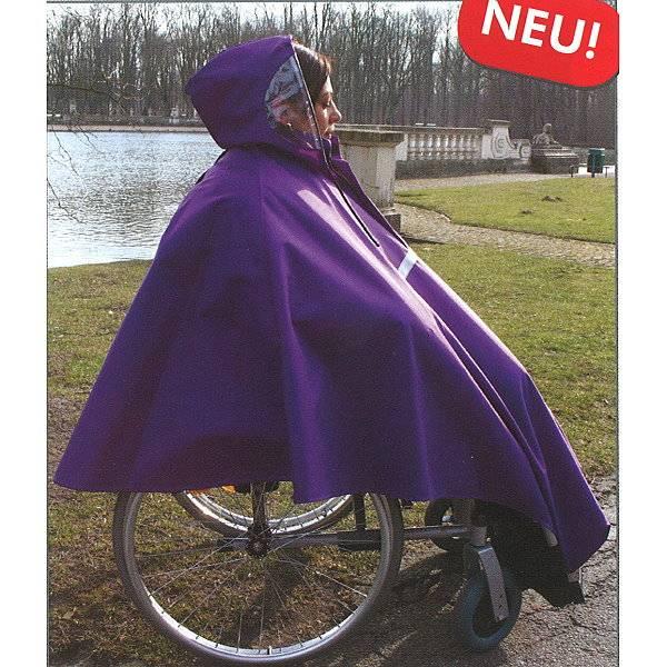 Multifunktionaler Regenponcho für Rollstuhlfahrer