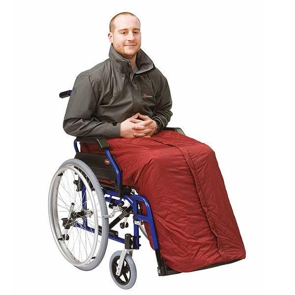 Rollstuhl-Fußsack für Herbst & Winter