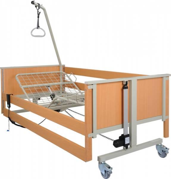 Leichtgewicht-Pflegebett L5 bei Bedarf mit Fußtieflagerung