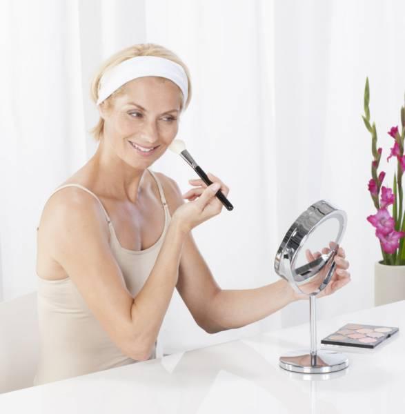 3 in 1 Kosmetikspiegel CM 845 Standfuß oder Wandmontage