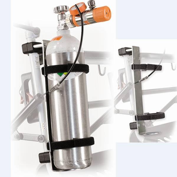 Sauerstoff-Flaschenhalterung für den Rollator