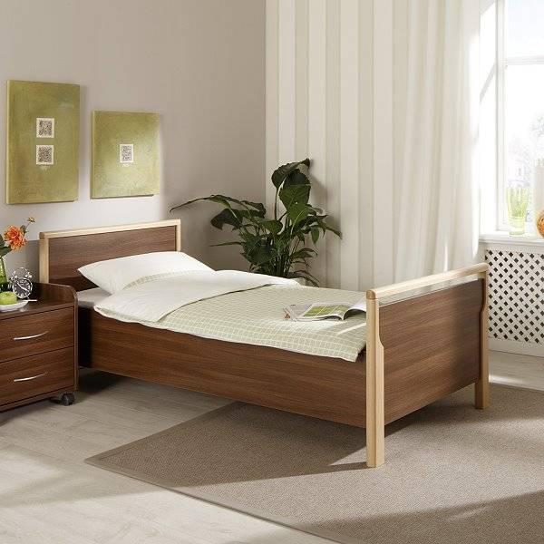 Seniorenbett Relax aus Buche mit verstellbarem Lattenrost