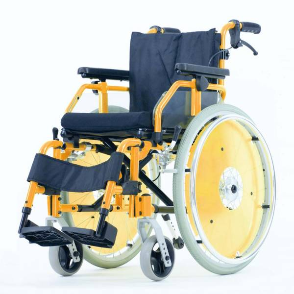 Kinder Rollstuhl Dino mit Trommelbremse und Steckachsen