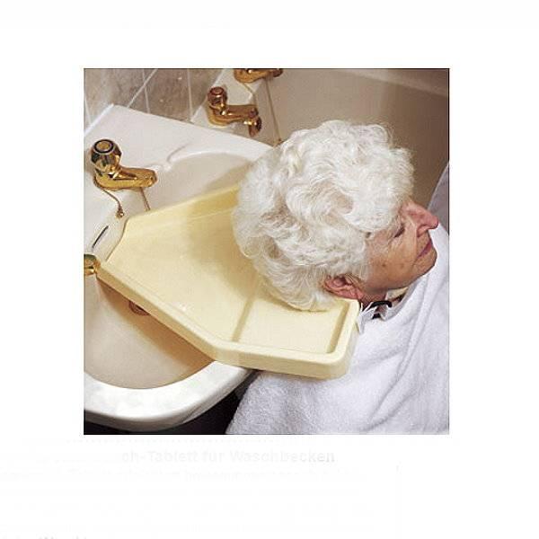 Haarwasch-Tablett fürs Waschbecken