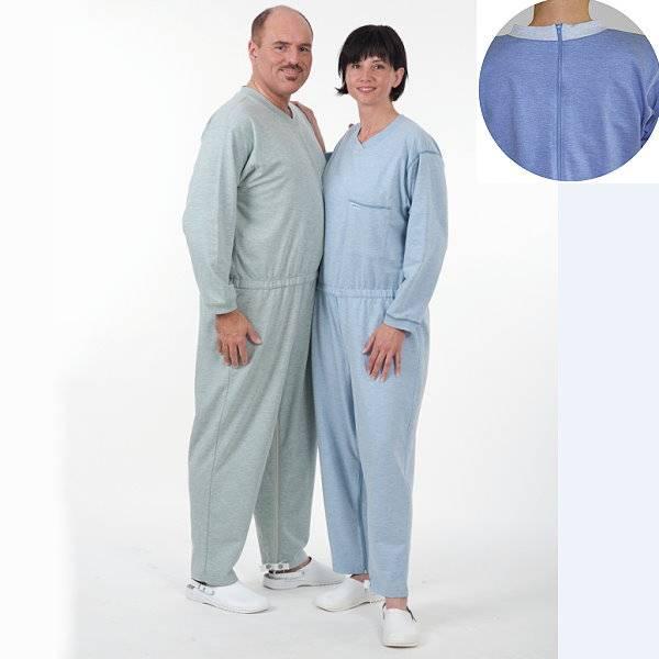 Pflegeoverall mit Rücken- und Beinreißverschluss