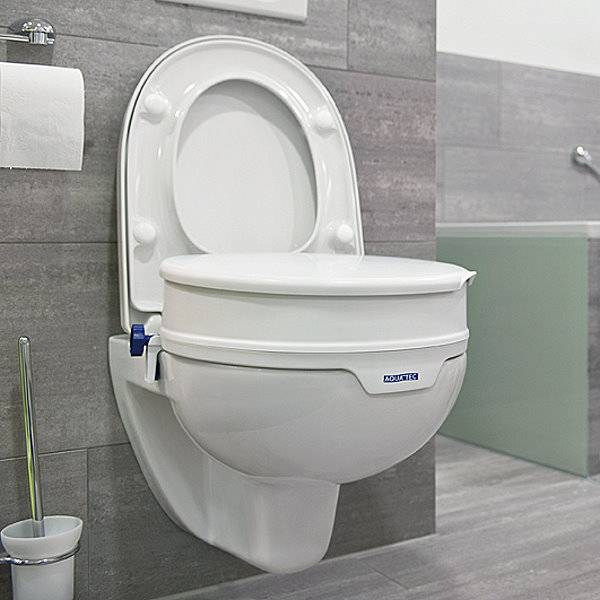 Toilettensitzerhöhung mit und ohne Deckel