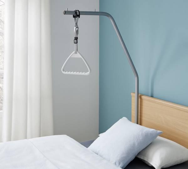 Aufrichter/Bettgalgen mit Triangelgriff für Burmeier Pflegebetten