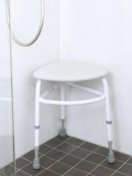 Eck-Duschhocker mit dreiecker Sitzfläche