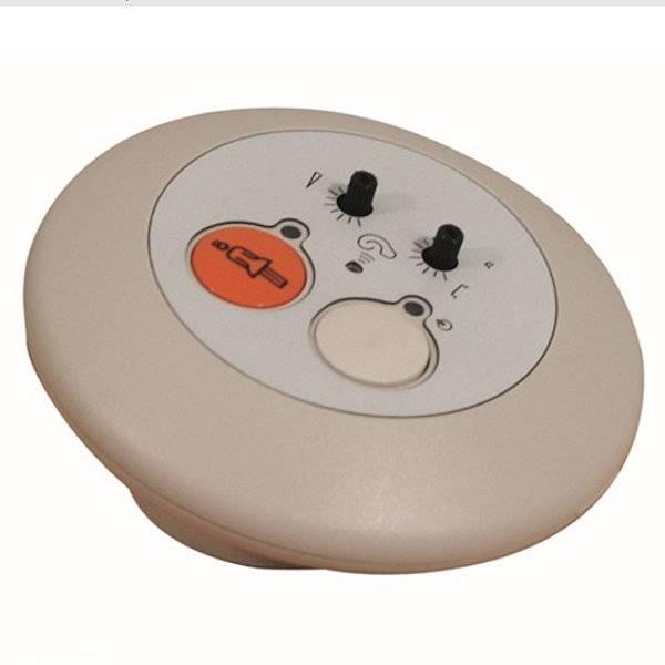 Geräuschmelder / Patienten-Notrufsystem mit optionalem Ruftaster