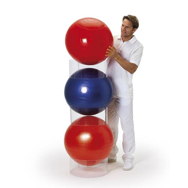 Stapelhilfe für Gymnastikbälle