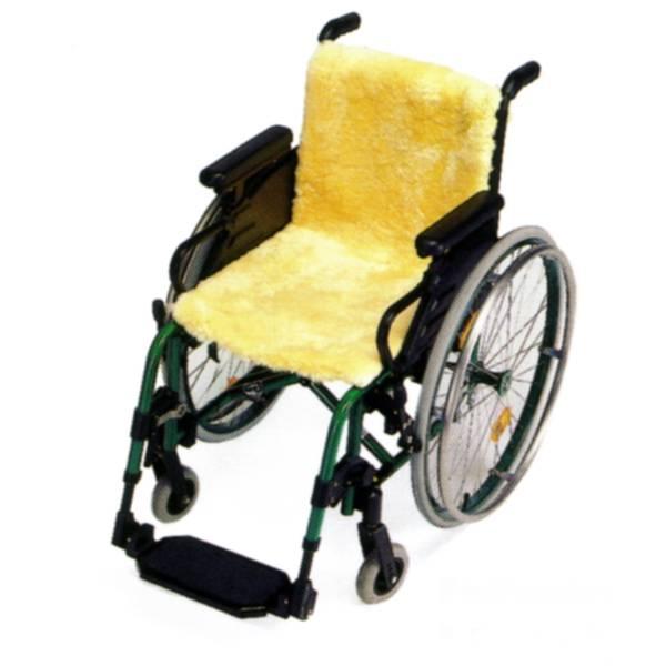 Schaffell für Rollstühle als Sitzauflage