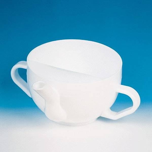 Schnabeltasse aus Kunststoff oder Porzellan