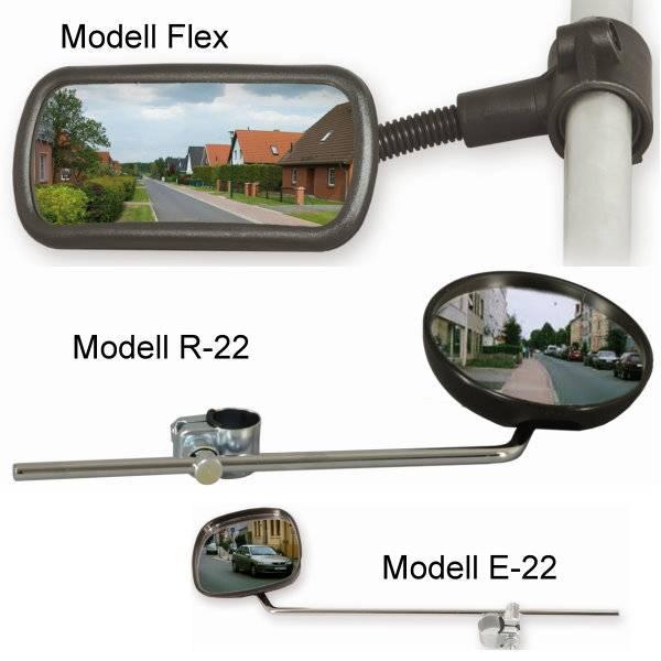 Rückspiegel für Scooter, E-Rollstühle und Rollatoren
