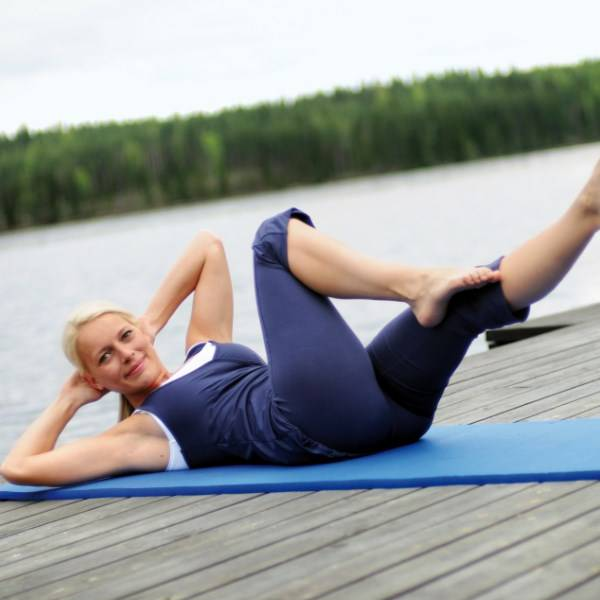 Gymnastikmatte für Fitness und Pilates