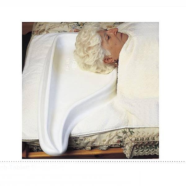 Haarwasch-Tablett für das Bett