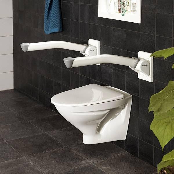 Stützklappgriff für die Toilette Etac Rex