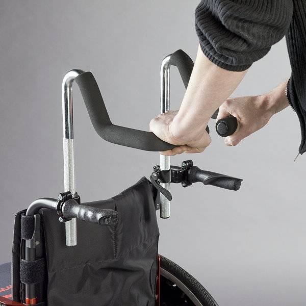 Höhenverstellbare Rollstuhl-Schiebegriffe