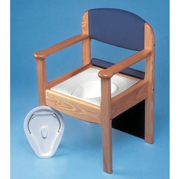 Hygienischer Holz-Toilettenstuhl mit Kassettensystem