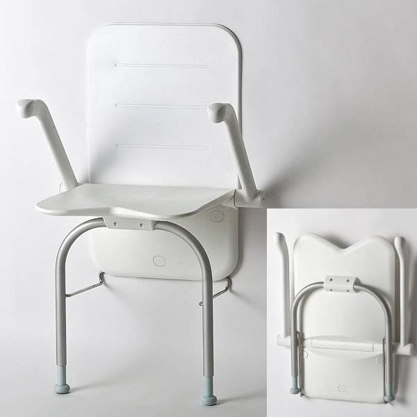 Komfortabler Duschklappsitz Relax mit Stützbeinen und Rückenlehne