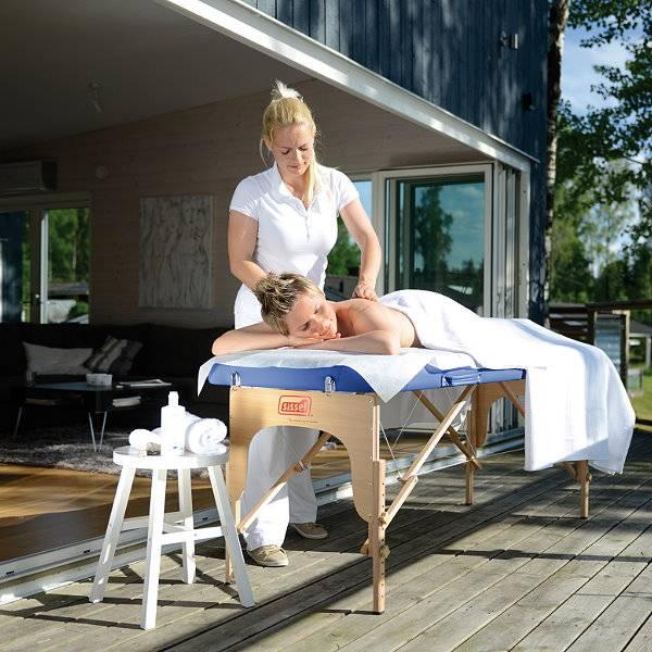 Koffermassagebank für zu Hause und mobile Massage